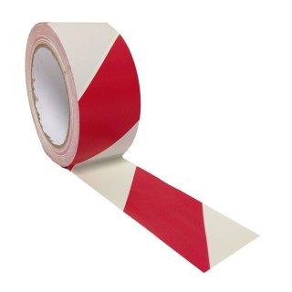 Absperrband rot//weiß 500m